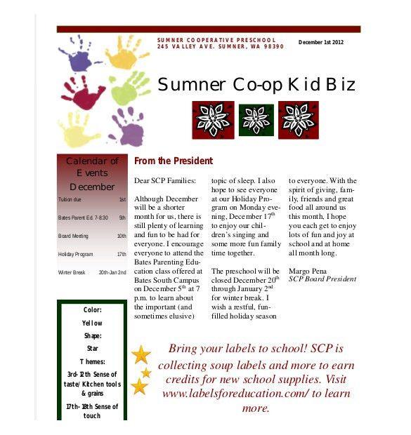 Preschool Newsletter Template- 9+ PSD, PDF Documents Download ...