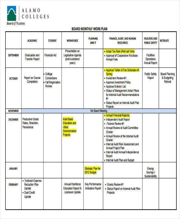 11+ Work Plan Templates - Free Sample, Example, Format Download