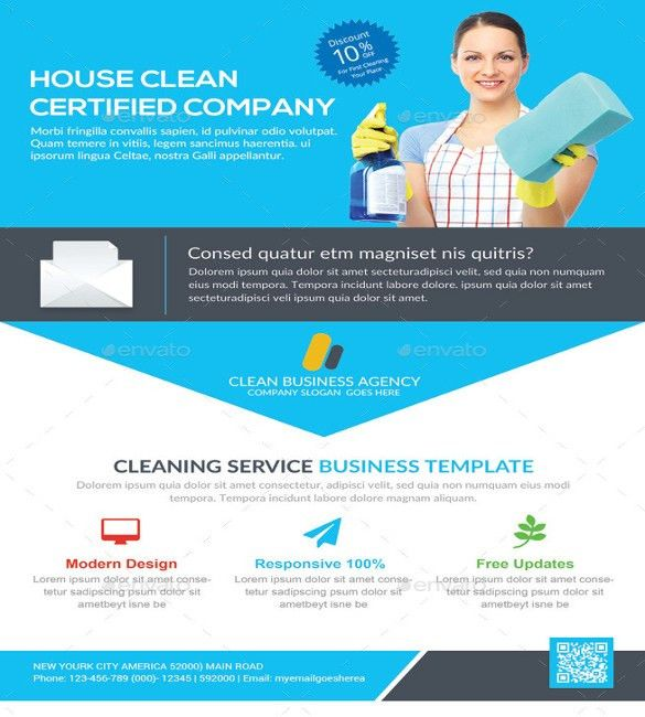 House cleaning flyers design - House design
