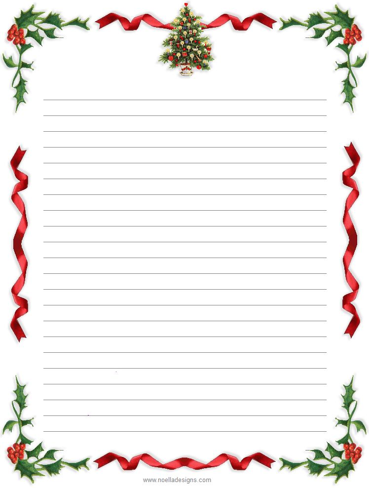 Holiday Stationery Paper | Click on an image to View larger, then ...
