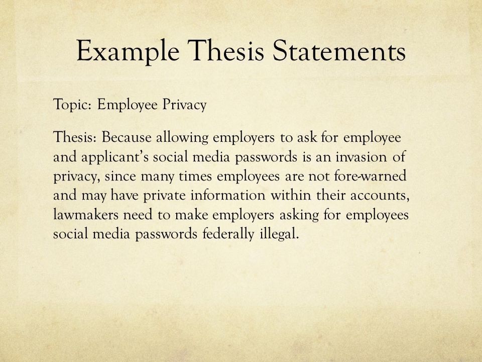 Thesis Statements. What is a Thesis Statement? A road map for the ...