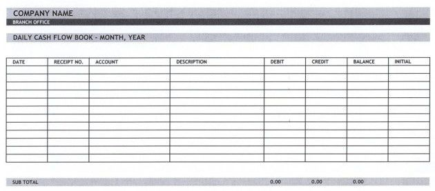 Expense Report and Daily Cash Flow Statement Template : Helloalive