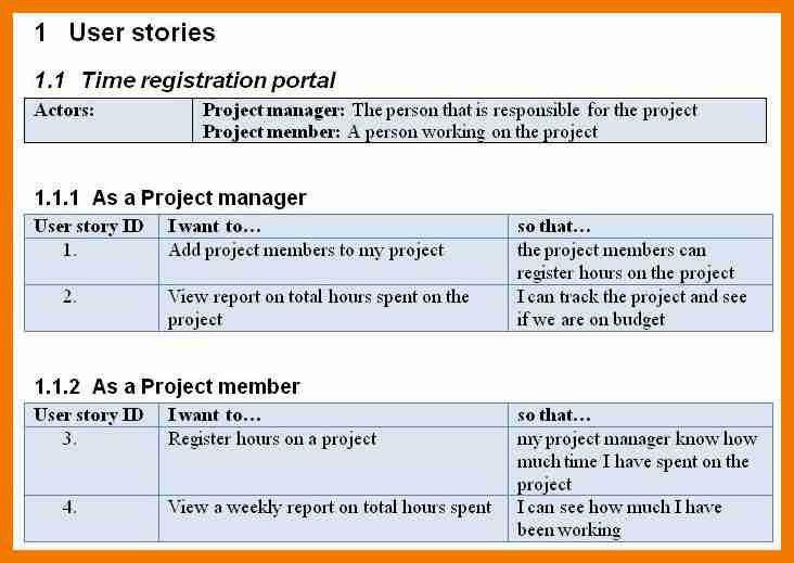 8+ user story template word | resume holder
