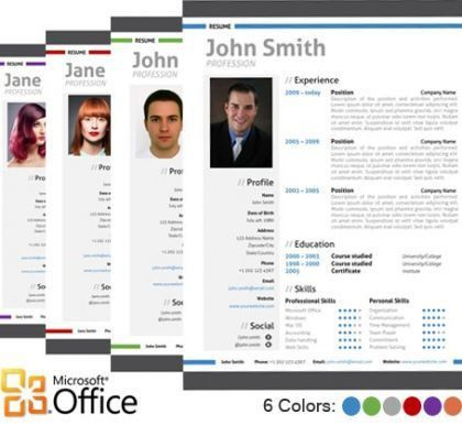 11 best Professional and Creative Resume Templates in Microsoft ...
