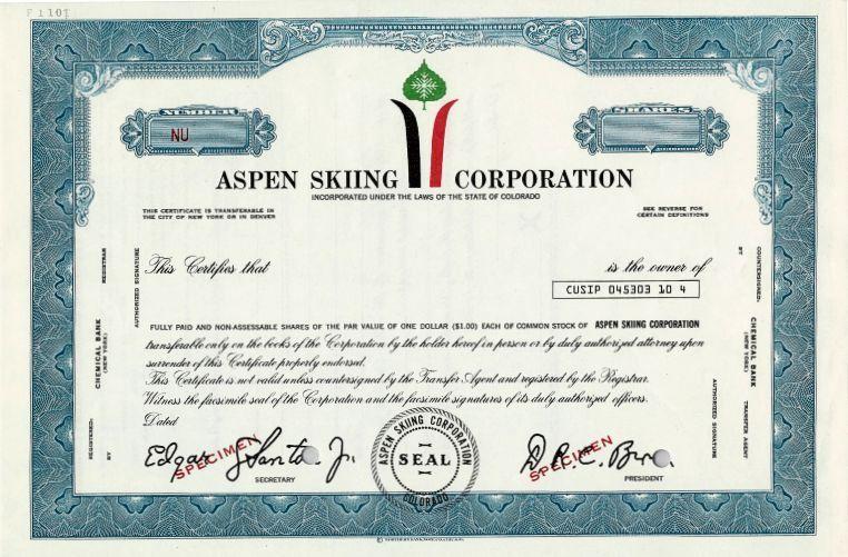 Aspen Skiing Corporation (Darcy Brown as President) - Colorado
