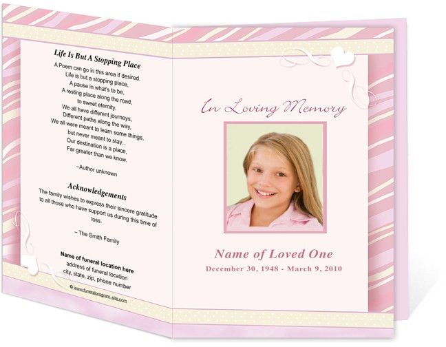 How To Create Your Own Funeral Program   All Program Templates