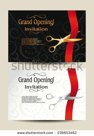 Grand opening invitation free vector download (87,034 Free vector ...