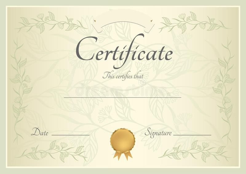 Certificate / Diploma Background (template) Royalty Free Stock ...