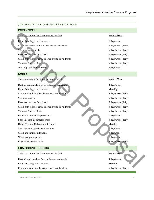Cleaning Proposal Templates. Business Proposal Templates Examples ...