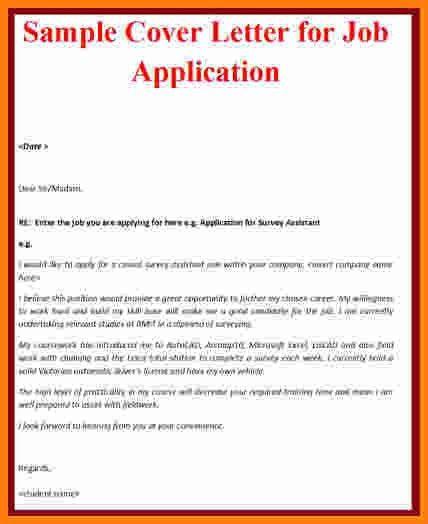13 job application letter examples   ledger paper