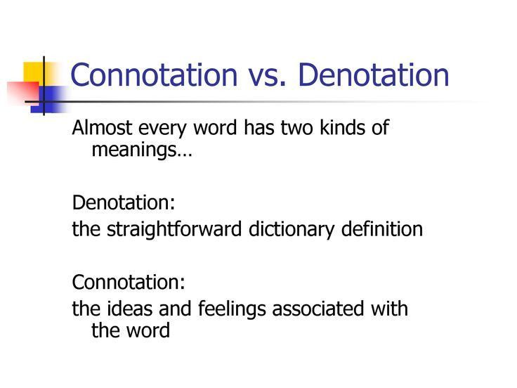 11 best Denotation and Connotation images on Pinterest | Ap ...