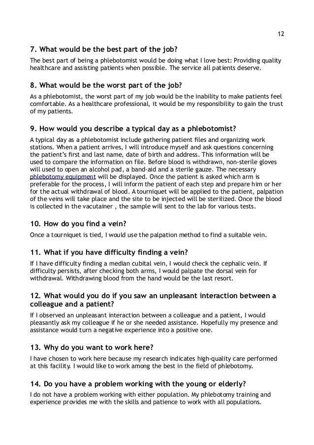 Resume Writing & Interview Tips for Phlebotomists