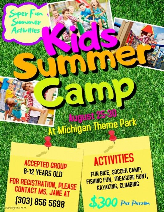 Customizable Design Templates for Summer Camp Flyer | PosterMyWall