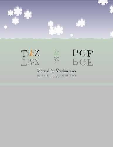 PGF 2.0 title page | TikZ example