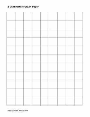 Practice Your Math Skills With This Printable 2-Centimeter Graph ...