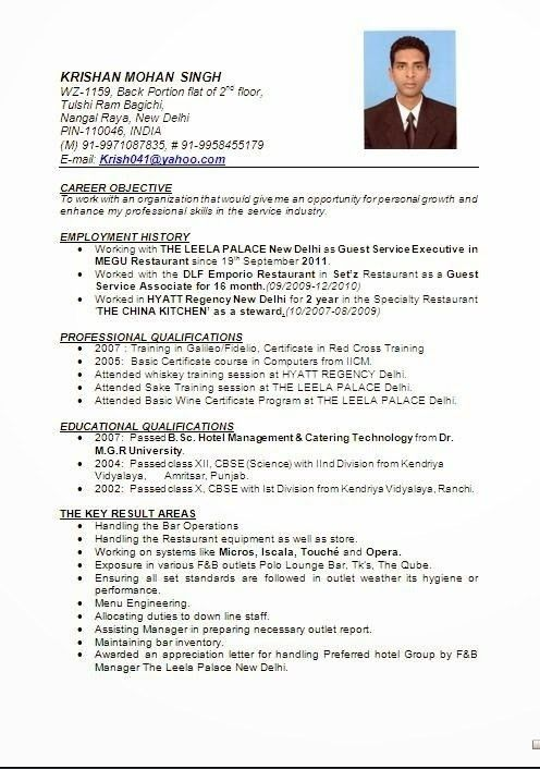 Kitchen Manager Resume, resume samples examples warehouse resume ...