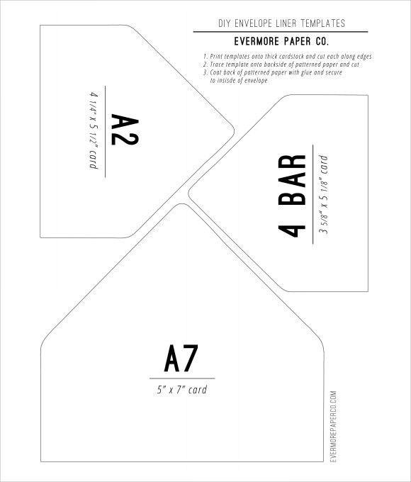 DIY Envelope Liners Template | Card making ideas | Pinterest | Diy ...