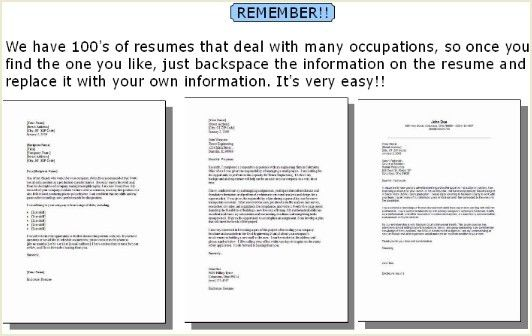 Resume Cover Letter Samples (over 100 free cover letter examples)
