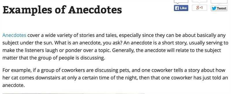 What are anecdotes in terms of essay writing : Writing an essay on ...