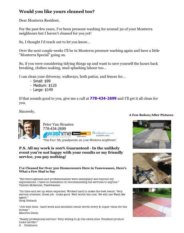 Powerwashing Flyers took business from <title>» Powerwashing ...