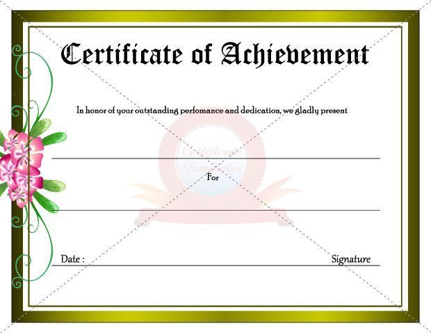 19 best Achievement Certificate images on Pinterest | Certificate ...
