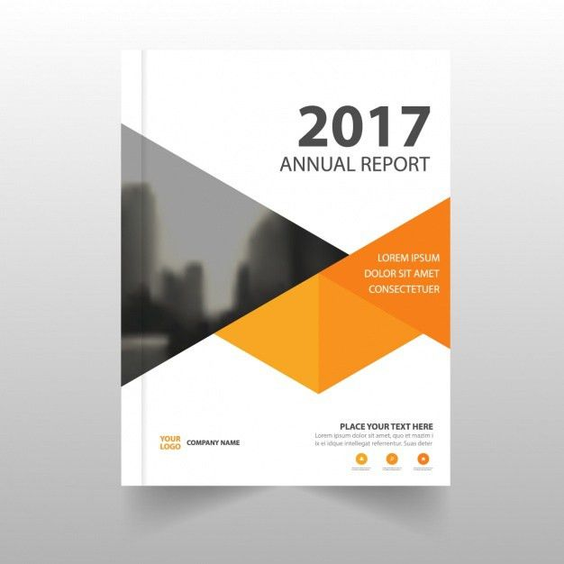 Report template with geometric shapes Vector | Free Download