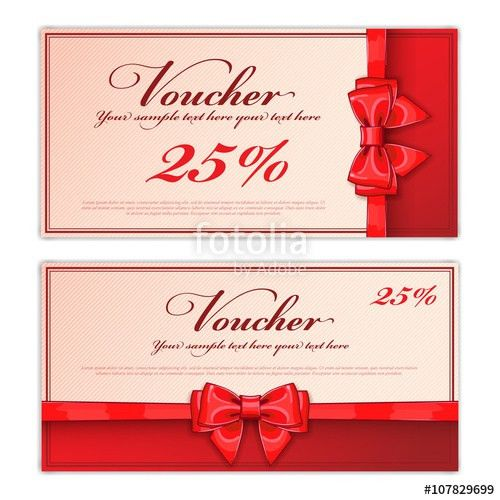 Gift discount voucher template, vector layout. Special offer ...