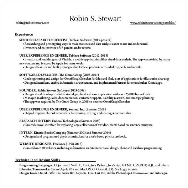 Resume Writing Template – 10+ Free Word, PDF, PSD Documents ...