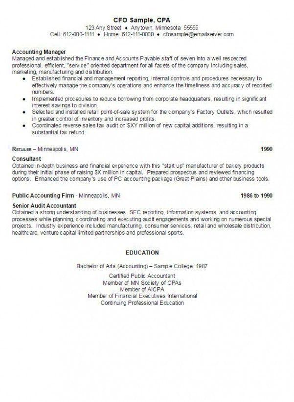 CFO Sample Resume | AmbrionAMBRION - Minneapolis Executive Search ...