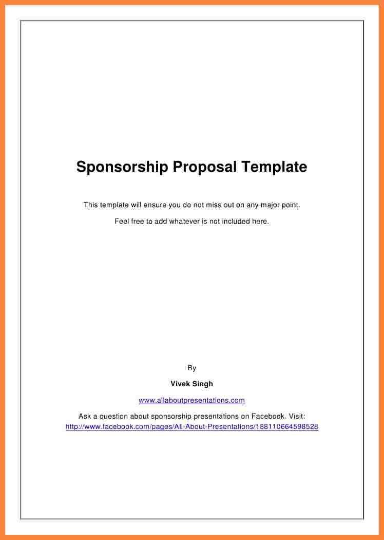 5+ event sponsorship proposal template free | Bussines Proposal 2017