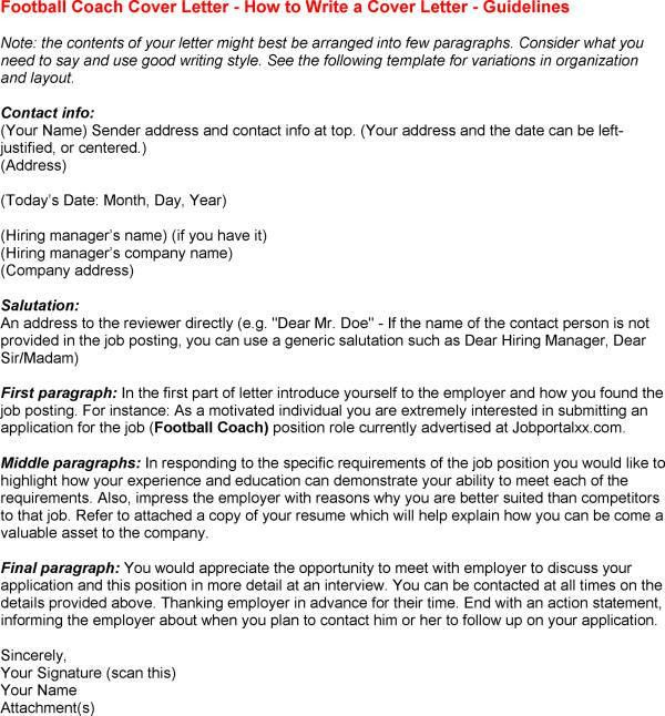 Football Coach Cover Letter Examples in Coaching Cover Letter - My ...