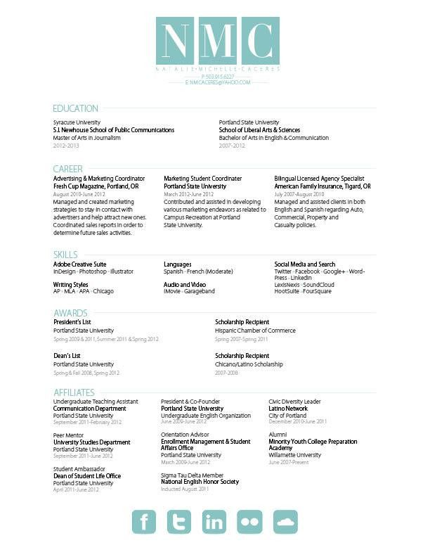 Natalie Caceres – Resume & Rationale | gra617