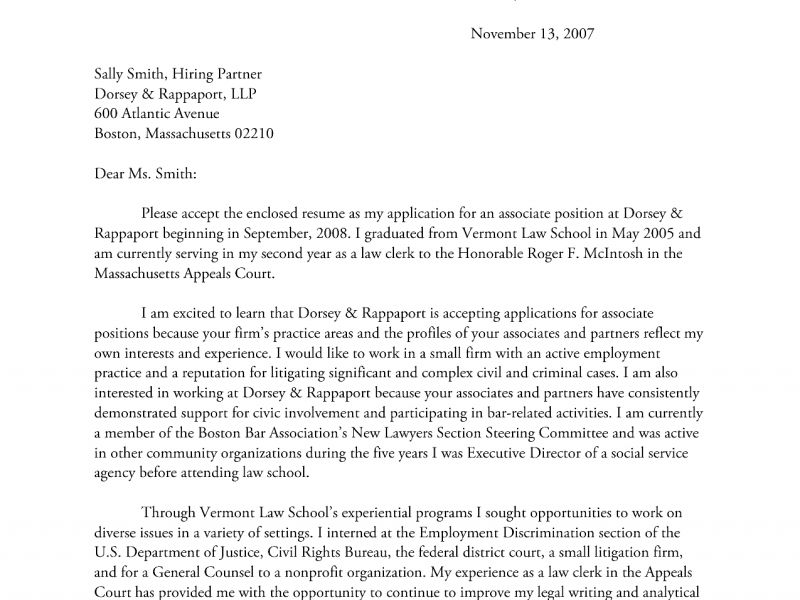 Extraordinary Law Firm Cover Letter 1 Attorney Cover Letter - CV ...