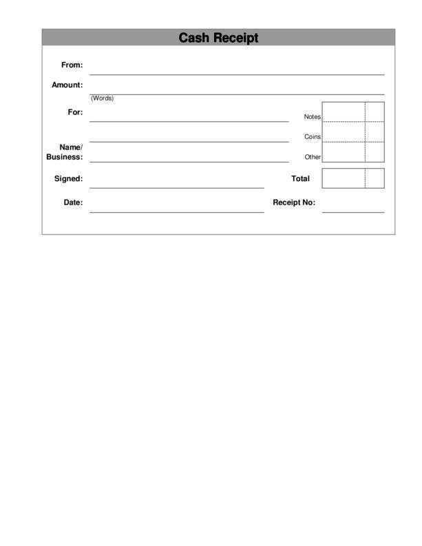 Cash Receipt Template 3 | LegalForms.org