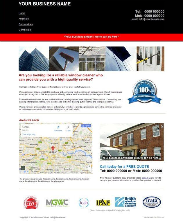 Budget Window Cleaning websites | Studio Arts Web Design