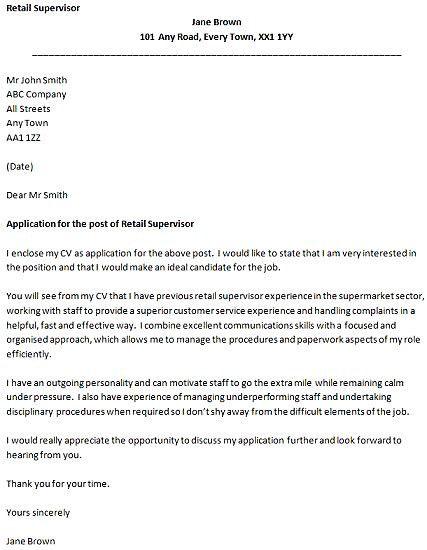 12 Supervisor Position Cover Letter Cover Letter cover letter for ...