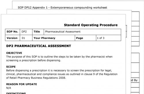 EasySOP - Standard Operating Procedures for Pharmacies