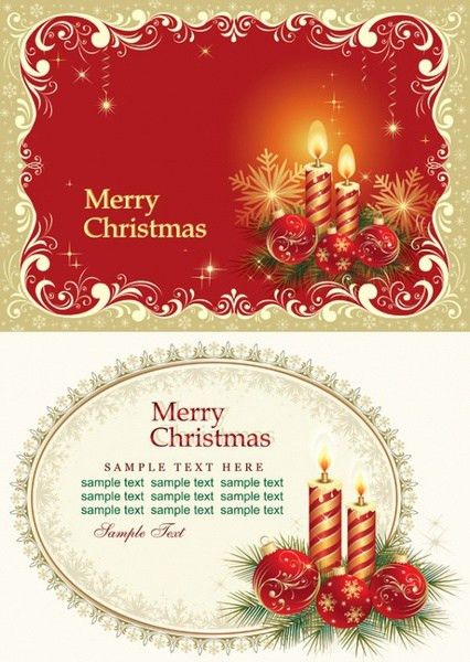 Beautiful christmas cards vector Free vector in Adobe Illustrator ...