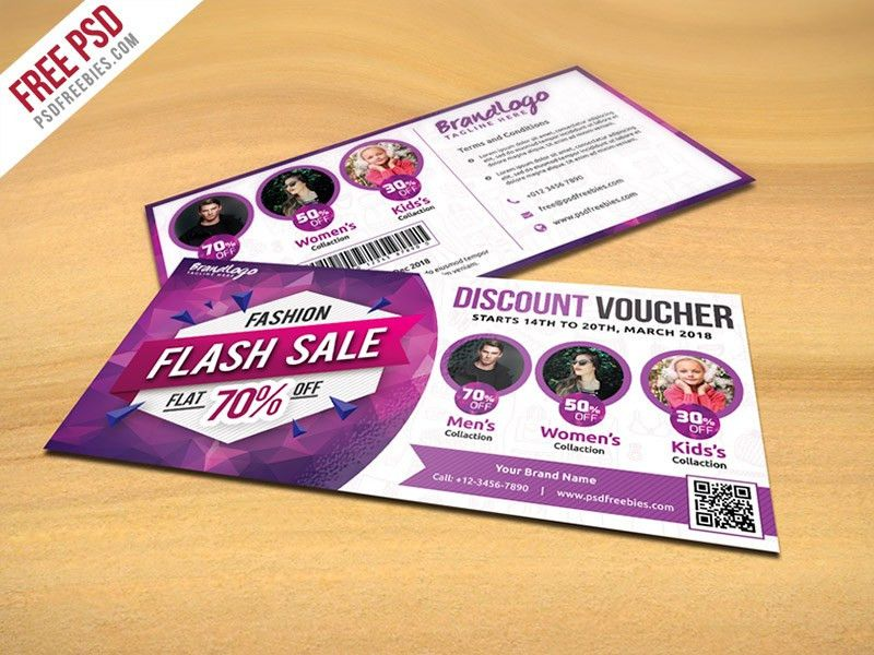 Freebie : Fashion Sale Discount Voucher Free PSD by PSD Freebies ...
