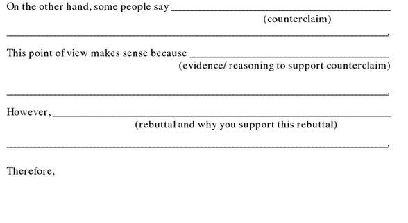 Refuting the Opposing Claim - 7th Grade - Argumentative Writing ...