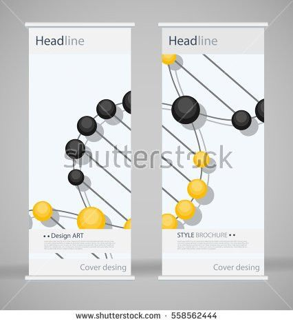 Brochure Cover Design Abstract Roll Up Stock Vector 558561931 ...
