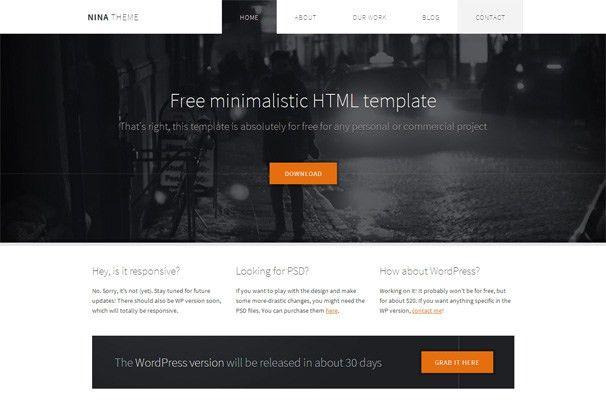 Nina - Free Html5 Template - Html5xCss3