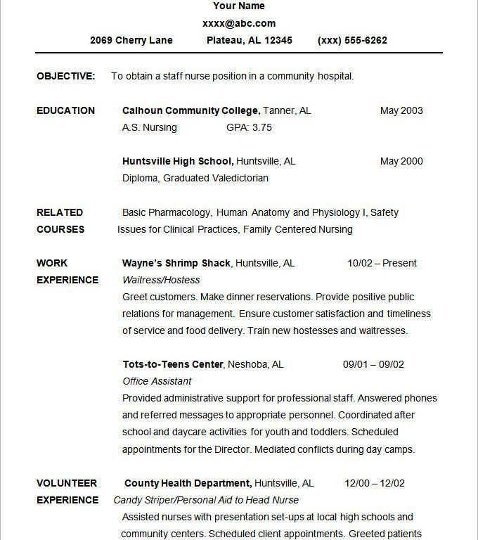 10 best nursing resume templates. pediatric nurse resume sample ...