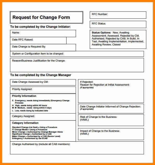 Change Order Template Example. Sample Construction Change Order ...