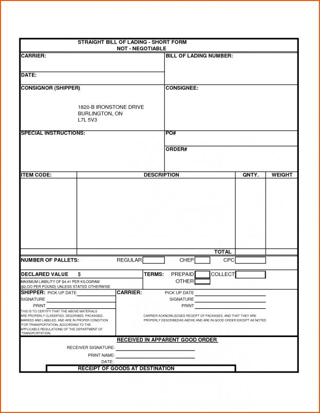 bill of lading template Survey Template Words : Selimtd