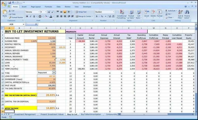 Excel Accounting Templates For Small Businesses Monthly Budget ...