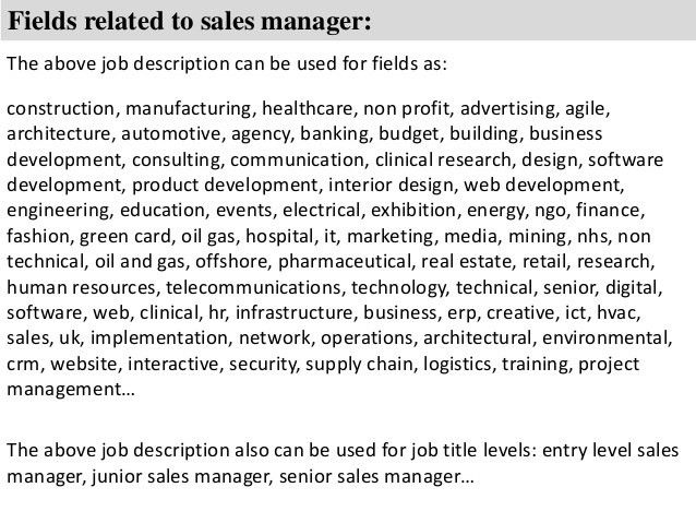 Automotive Sales Manager Job Description Sales Engineer Job – Sales Engineer Job Description