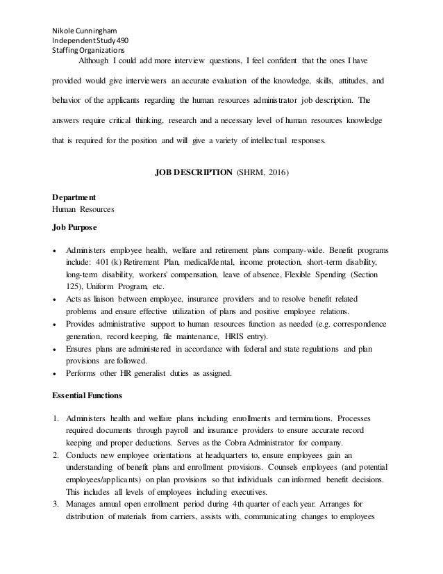 Job Description Report - HR Admin