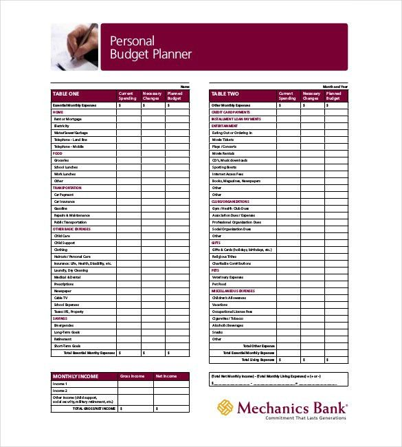 Budget Planner Template – 9+ Free Word, Excel, PDF Documents ...