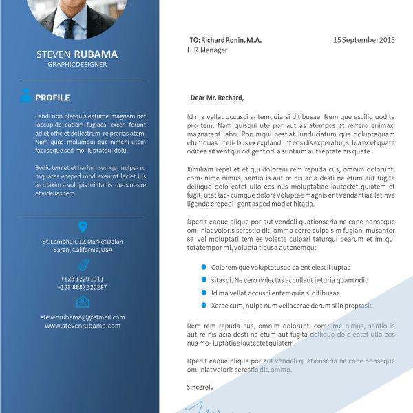 Pro Job Resume | Modern Blue Cover Letter